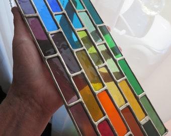Cascade of Colour! Stunning Rainbow Suncatcher - pewtermoonsilver