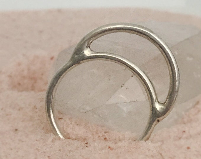 Handcrafted Sterling Silver MOON  Ring