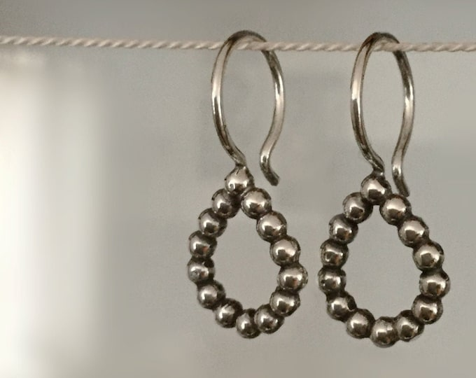 Handcrafted Sterling Silver Drop Earrings