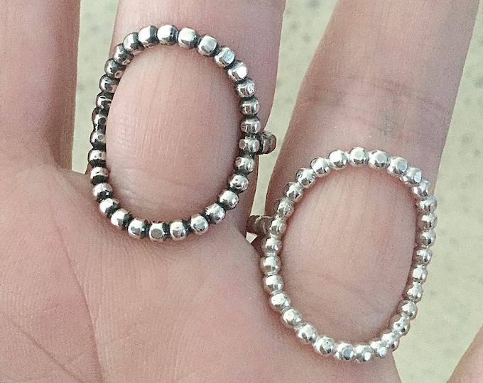 Large Handcrafted Sterling Silver Open Circle Ring