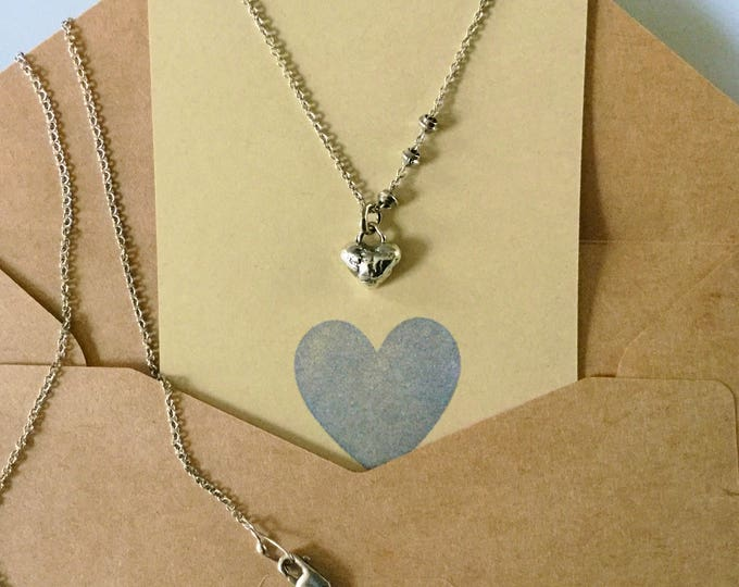 Sterling Silver Little Heart Necklace