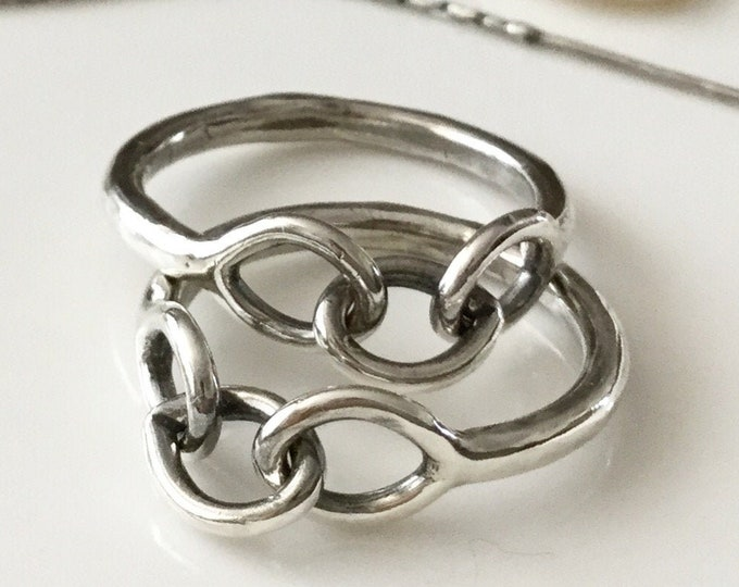 Handcrafted Sterling Silver Chain Link Ring