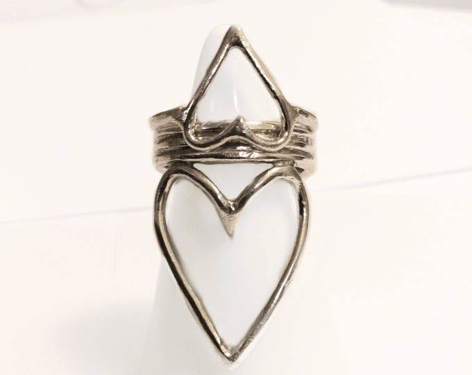 Handcrafted Sterling Silver Open Heart Ring