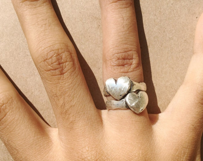 Sterling Silver Heart Ring Band
