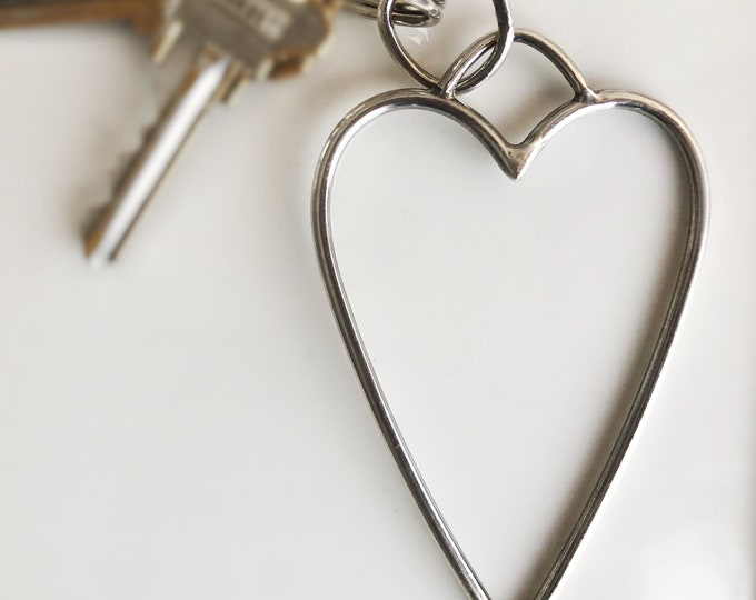 Handcrafted Sterling Silver Heart Key Chain/Pendant