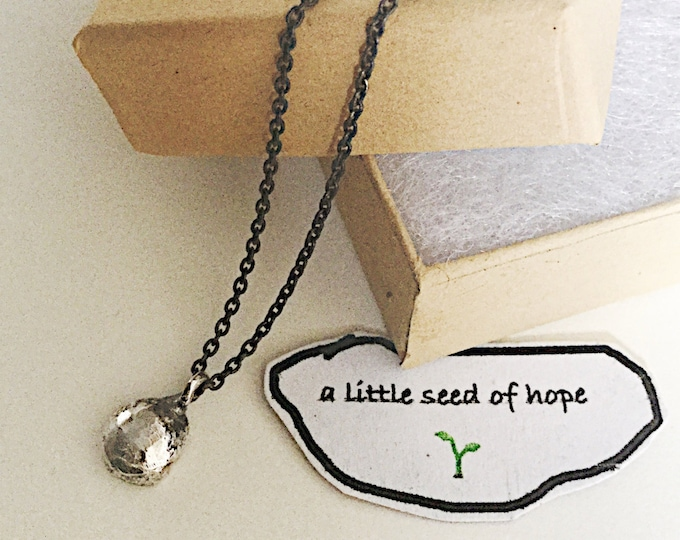 One of a kind Little Seed Of Hope Drop Necklace