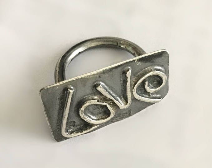 Sterling Silver Hand Crafted Funky Love Ring