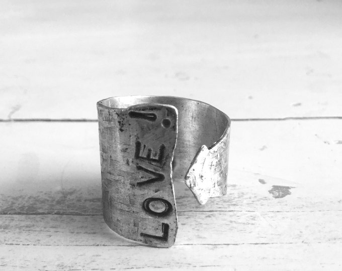 Sterling Silver LOVE! Ring Band