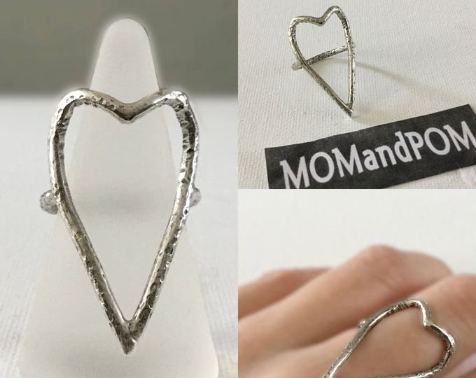 Large Sterling Silver Heart Ring