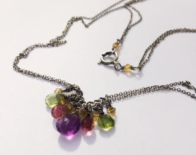 Delicate Multi Drop Necklace