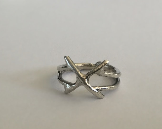 Handcrafted Sterling Silver X-Ring