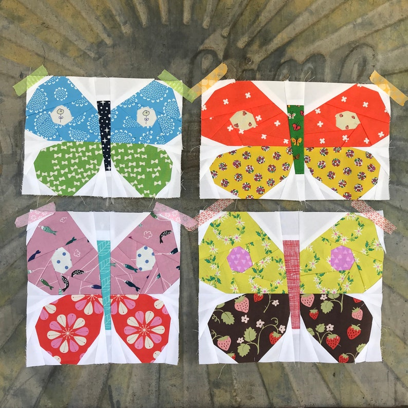 Foundation Paper Pieced Butterfly PDF Pattern image 0