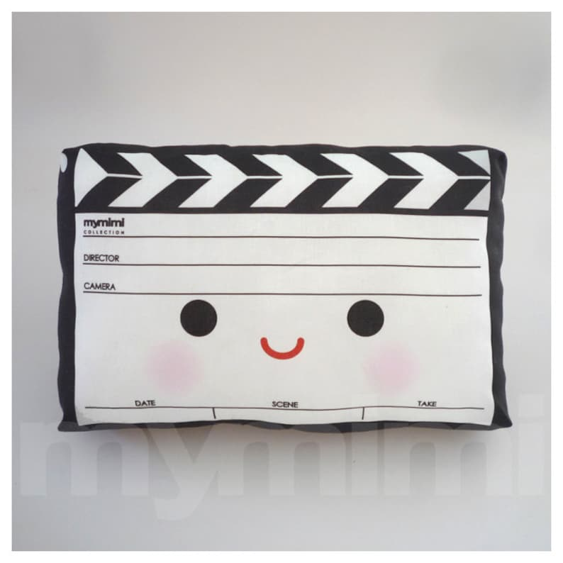 Decorative Pillow Movie Pillow Film Pillow Movie Clapper image 0