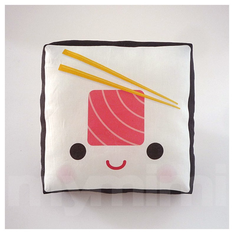 Decorative Pillow Sushi Pillow Tuna Roll Japanese Food image 0