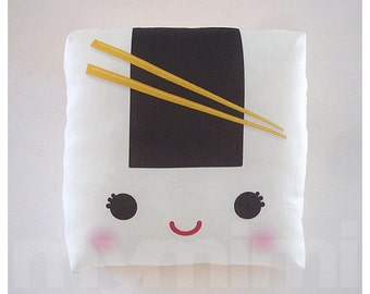 Decorative Pillow, Onigiri Pillow, Sushi Pillow, Japanese Food, Cushion, Kawaii, Home Decor, Room Decor, Dorm, Childrens Toys, 7 x 7""