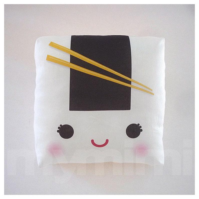 Decorative Pillow Onigiri Pillow Sushi Pillow Japanese image 0