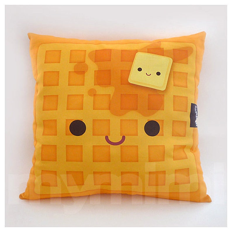 12 x 12 Waffle Pillow Stuffed Toy Kids Room Decor image 0