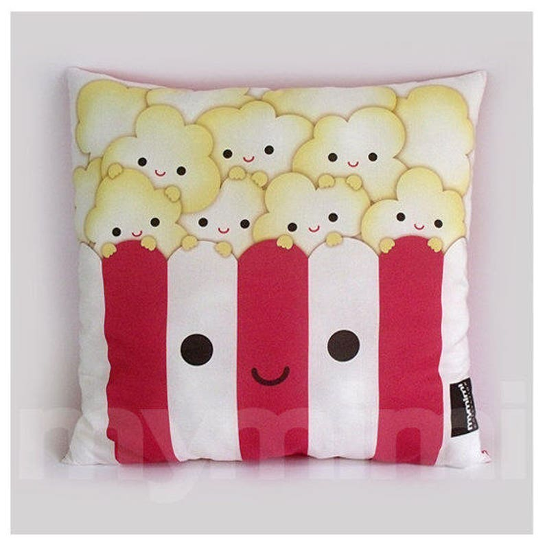 12 x 12 Toy Pillow Popcorn Pillow Movie Night image 0