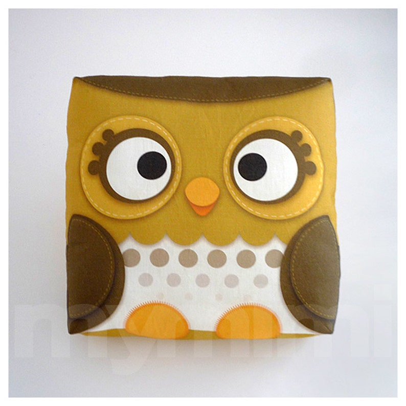 Decorative Pillow Owl Pillow Forest Owl Woodland Animal image 0