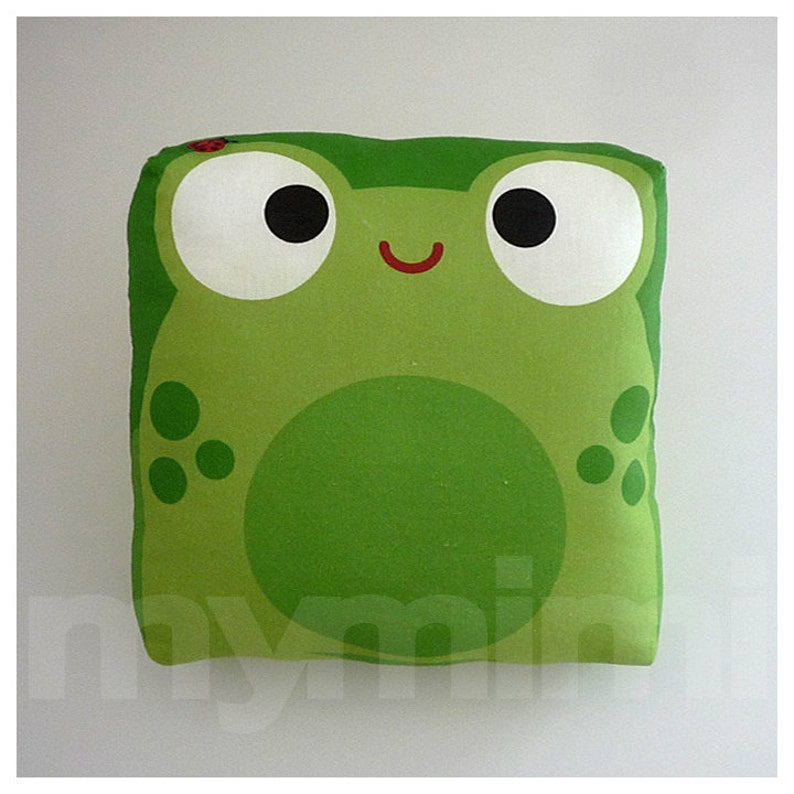 Children's Mini Pillow Decorative Pillow Green Pillow image 0
