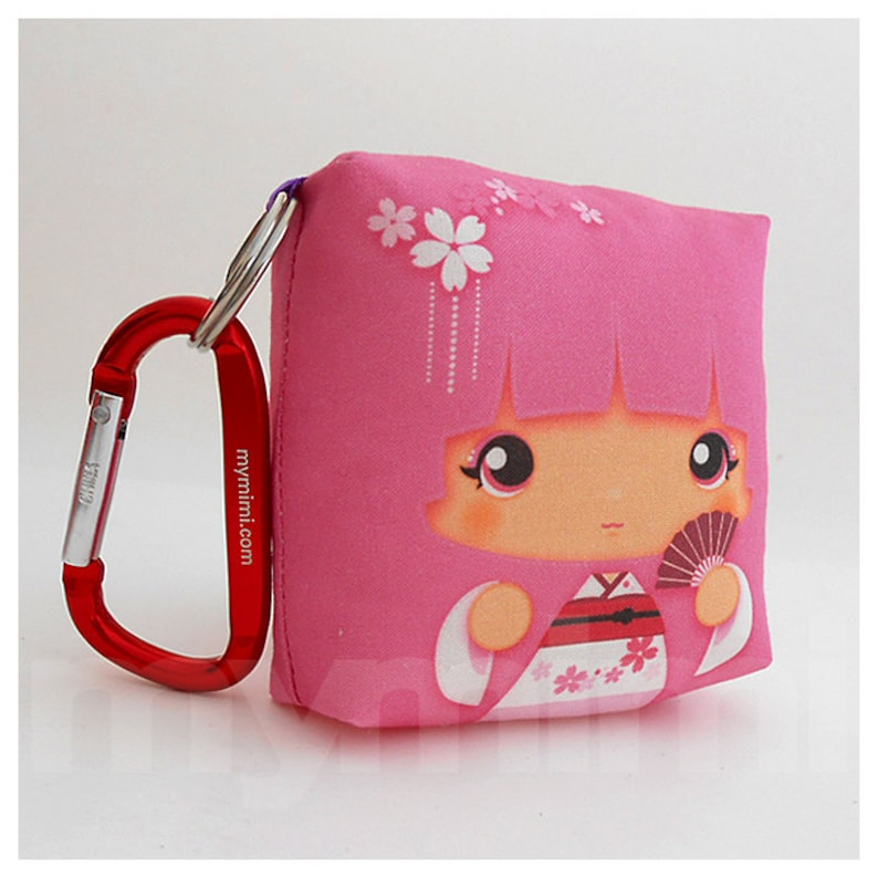 Toy Keychain Girls Pillow Geisha Pillow Pink Pillow Kawaii image 0