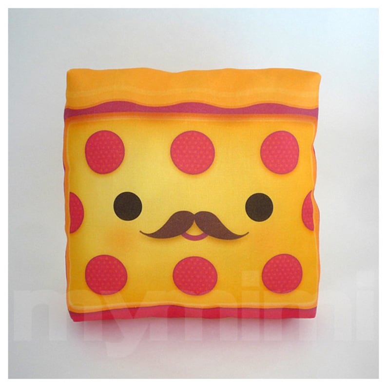 Food Pillow Pepperoni Pizza Pizza Pillow Birthday Party image 0