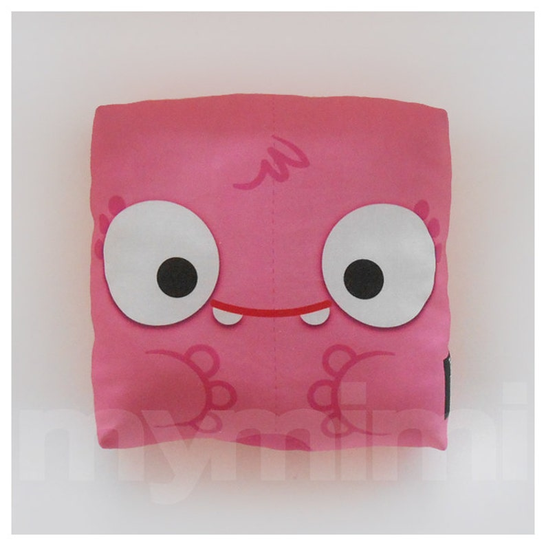 Pink Monster Pink Pillow Monster Pillow Stuffed Toy image 0