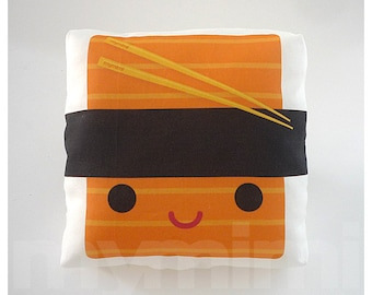 Decorative Pillow, Sushi Pillow, Japanese Food, Food Pillow, Kawaii Pillow, Cushion, Room Decor, Dorm, Toy Pillow, Childrens Toys 7 x 7""