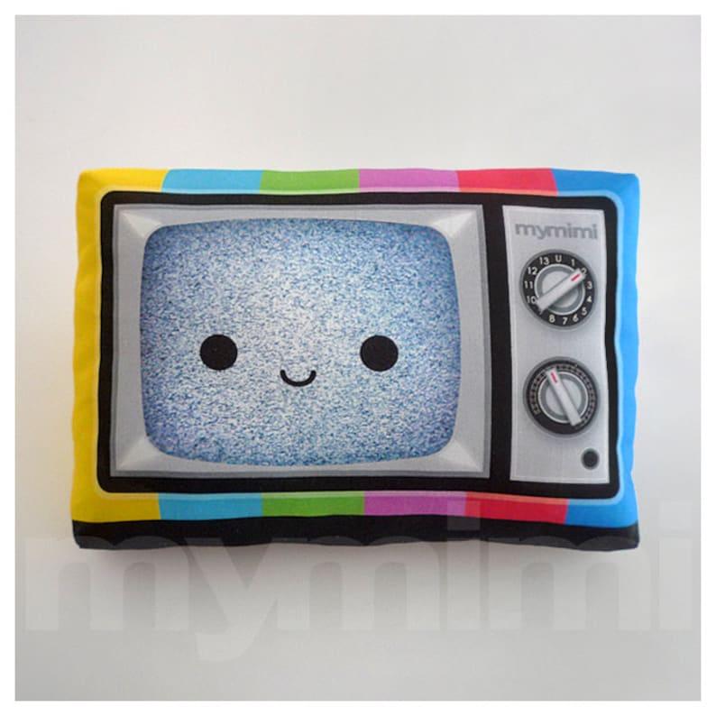 Decorative Pillow TV Pillow Vintage Television Retro image 0