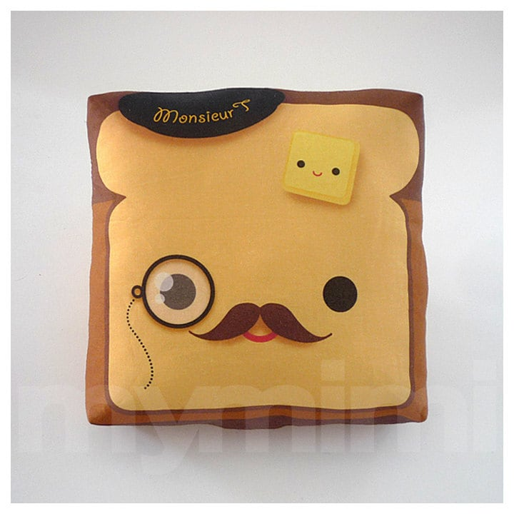 Movember Decorative Pillow Toast Pillow French Toast
