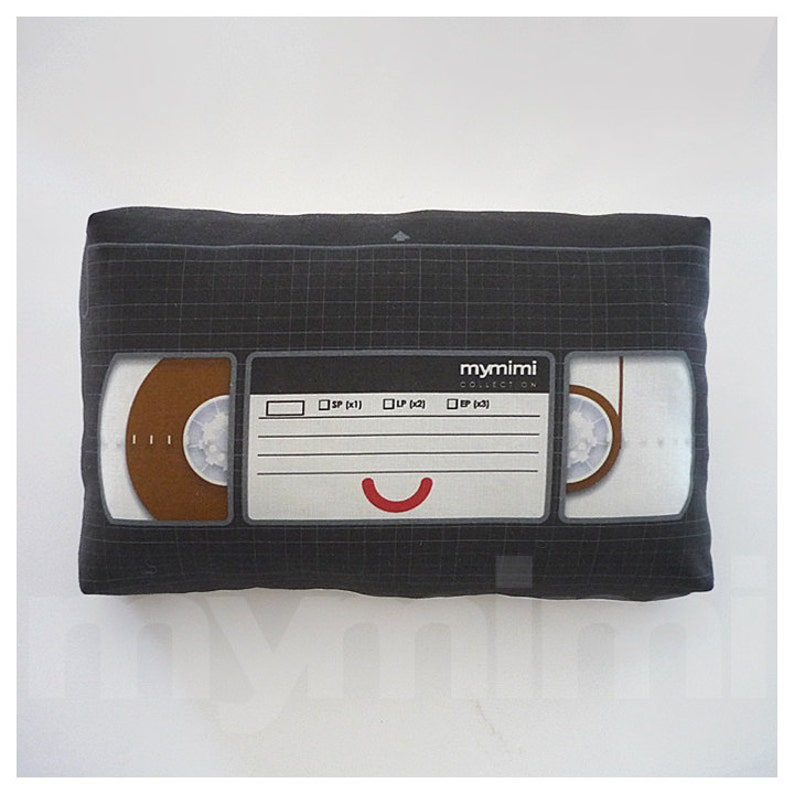 Decorative Pillow Video Pillow VHS Tape Video Tape image 0