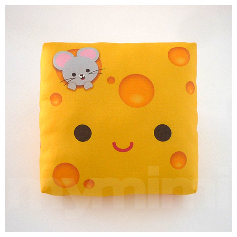 Decorative Pillow Cheese Pillow Breakfast Food Food Pillow image 0