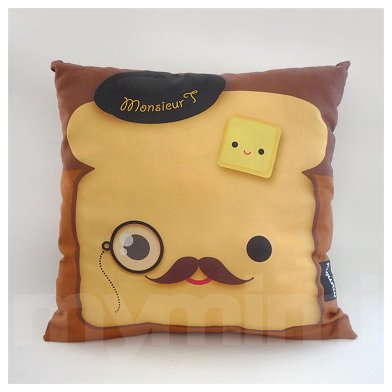 12 x 12 Decorative Pillow Toast Pillow French Toast image 0