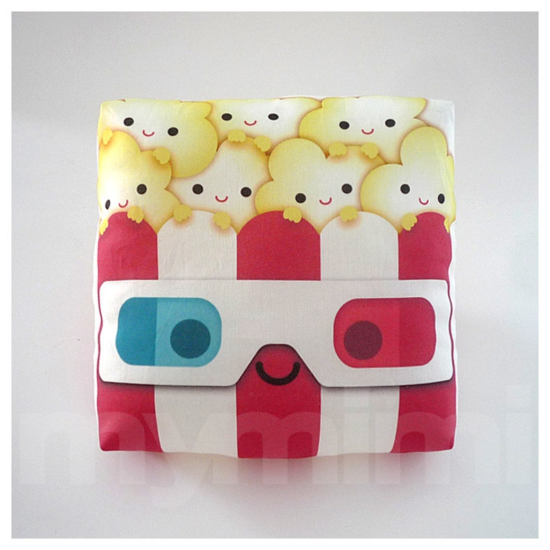 Decorative Pillow Popcorn Pillow Geek Pillow 3D Glasses image 0