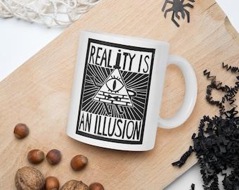 Gravity Falls Reality Is An Illusion Bill Cipher Coffee Mug Tea Cup