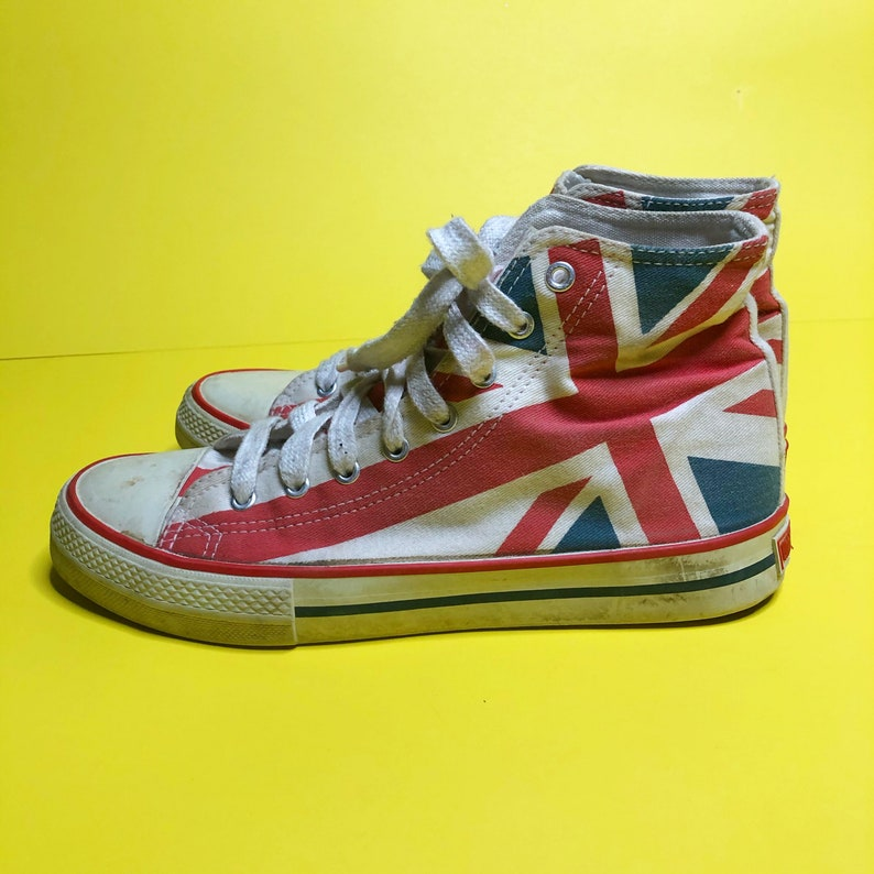 Inghilterra Underground Converse Style Hi Top Sneakers 2005 NOxmzBDW