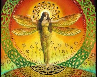 Syrinx 5x7 Blank Greeting Card Fine Art Print Pagan Mythology Bohemian Belly Dance Gypsy Goddess Art