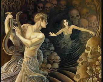 Orpheus and Eurydice 8x10 Giclée Fine Art Print on Canvas Greek Mythology Goddess Art