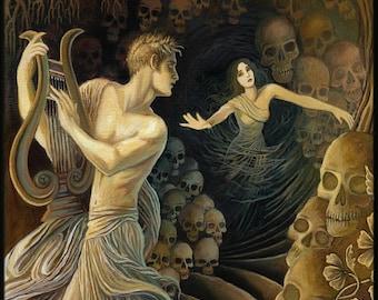 Orpheus and Eurydice Greek Mythology 5x7 Greeting Card Goddess Art