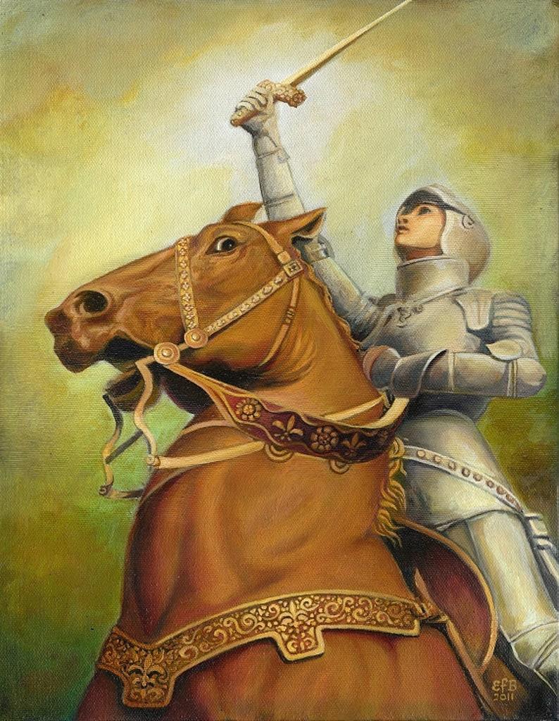 Joan of Arc - Hillingford Art Print, Canvas