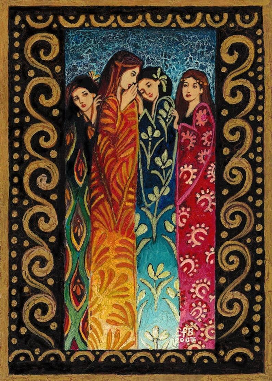 Her Secrets ACEO Mini Fine Art Print Pagan Mythology Altar Art Nouveau Bohemian Goddess Art