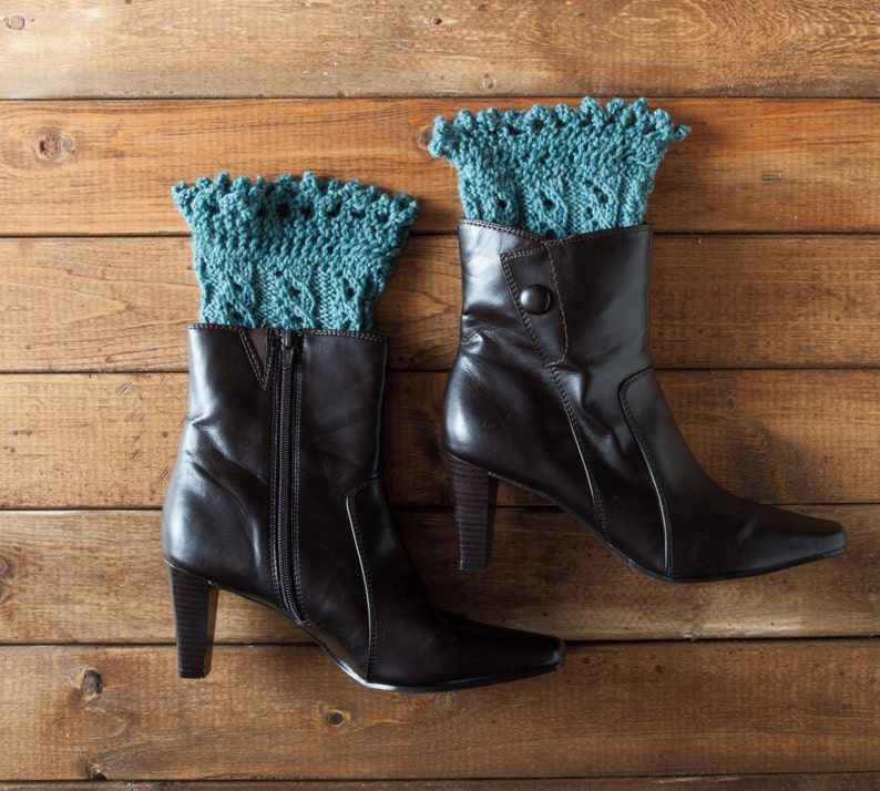 Pikabu Knit Boot Toppers  Pattern PDF  Quick knit gift image 0