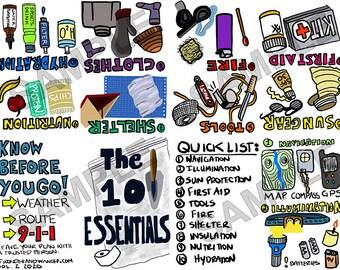 The Ten Essentials Printable Mini_Zine