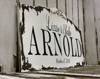 Custom Family Name Sign | Established Sign | Last Name Sign | Custom Wood Sign | Personalized Family Sign | Rustic Wooden Sign | Distressed