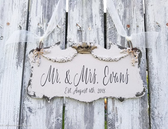 Fairytale Wedding Sign Mr And Mrs Sign Rustic Wedding Sign Fairytale Wedding Decor Cinderella Wedding Personalized Fairytale Theme