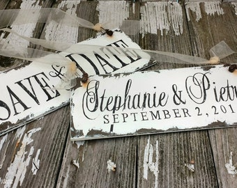 Save The Date Signs for the Dogs | Personalized Save the Date Signs | Personalized Engagement Signs | Wedding Signs | Photography Props