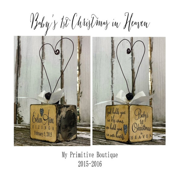 My First Christmas In Heaven.Baby S First Christmas In Heaven Ornament Personalized Christmas Ornament In Loving Memory Photo Ornament Memorial Ornament Rustic