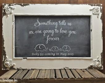 Vintage CHALK BOARD sign, Chalk Board Frame, Chalkboard Sign, Chalkboard, Reversible Sign, Shabby Chic Sign, Nursery Home Decor, Baby Shower
