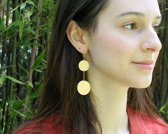 Statement Earrings, Bold Earrings, Circle Earrings, Simple, Minimalist Jewelry, Gift for Her, UNITY