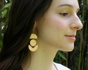 Geometric Earrings, Bold Earrings, Circle Earrings, Statement Earrings, Minimalist Jewelry, Gift for Her, ANCHOR